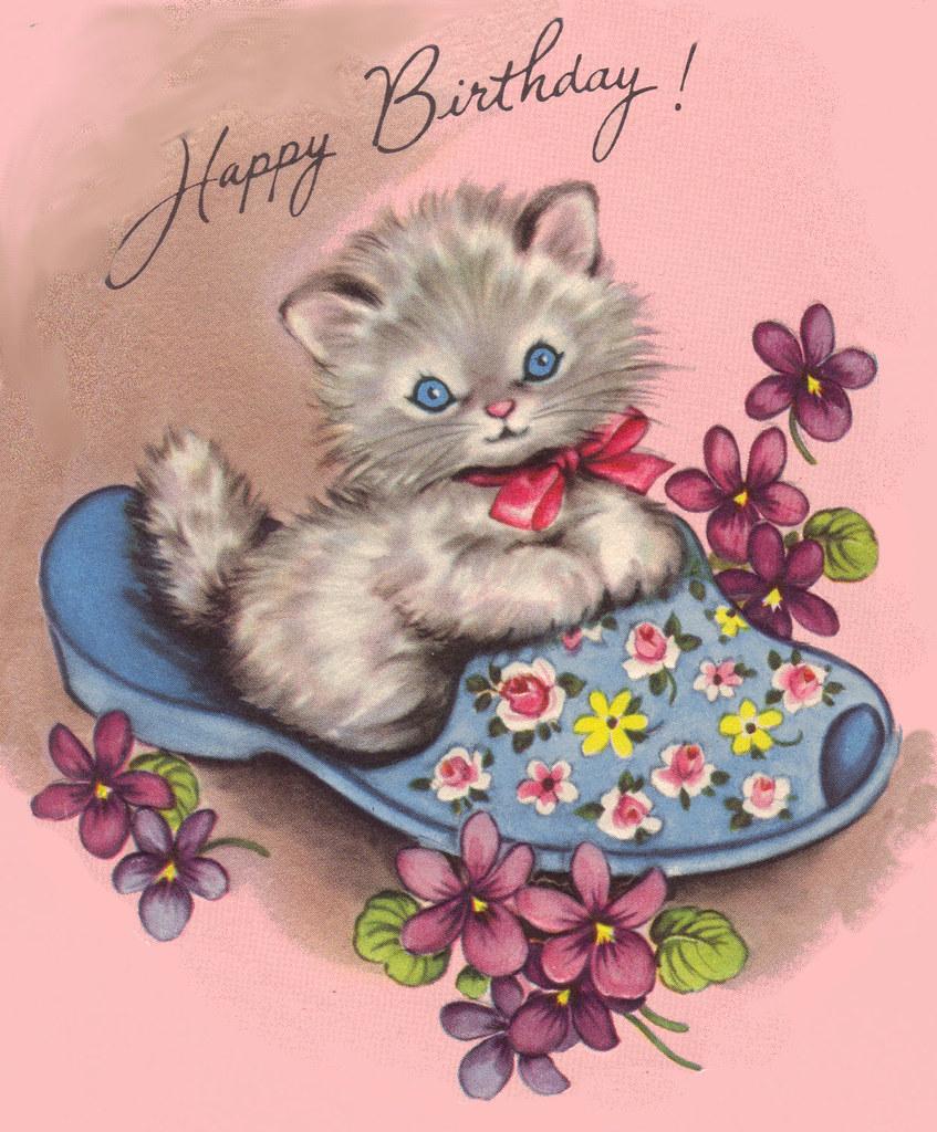 happy birthday kitty  card bit  kathie mcmillan  flickr
