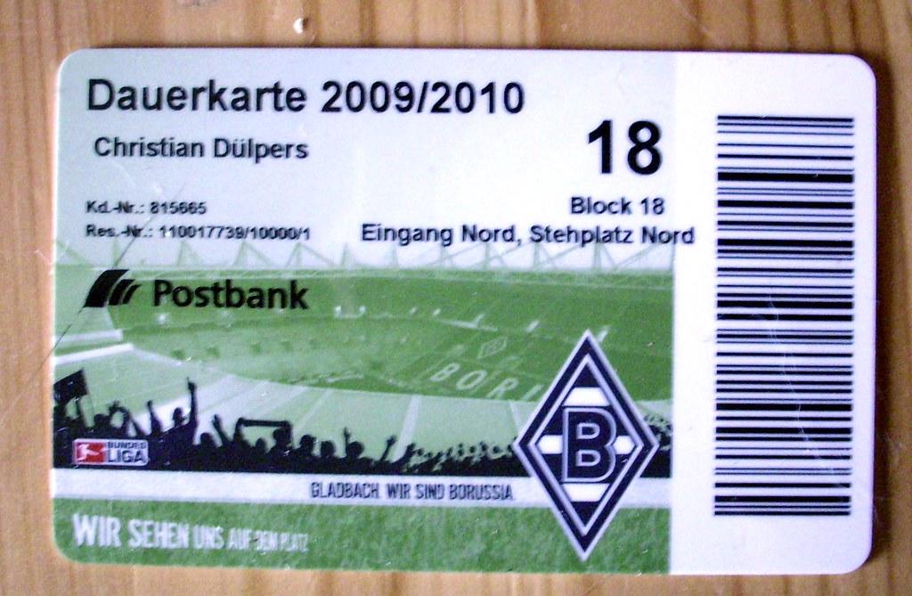 Dauerkarte Borussia Dortmund