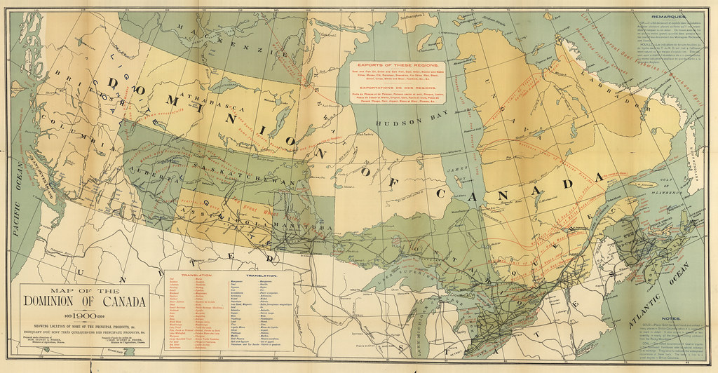 Map Of Canada 1900.Map Of The Dominion Of Canada Showing Location Of Some Of Flickr