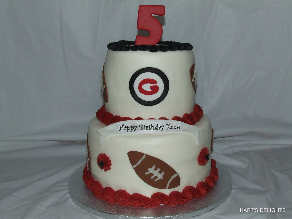 Brilliant Georgia Bulldogs Birthday Cake Debbie Flickr Funny Birthday Cards Online Elaedamsfinfo