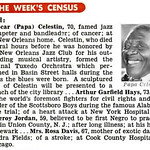 Oscar Papa Celestin Dies in New Orleans, Louisiana at 70 - Jet Magazine, December 30, 1954