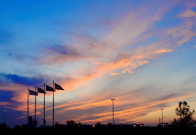 Flags in the Sunset #4608