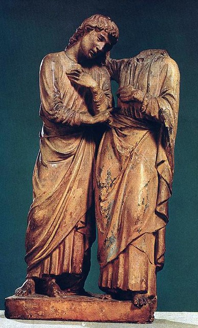 ROBBIA, Luca della Christ and Thomas - Terracotta, height- 44,5 cm Museum of Fine Arts, Budapest