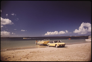 Boat Launching From Luguillo Beach 02/1973