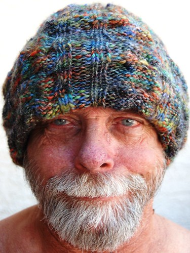 Cabled Balaclava as simple hat