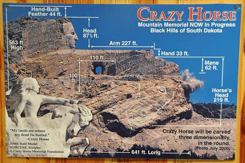 Crazy Horse Memorial sign