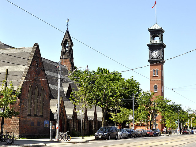 St. Stephens-in-the-Fields Church (1858) and Firehall #315 (1872)