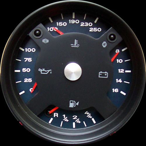 Custom Porsche 914-6 Quad gauge | Built by Mark Surel (photo