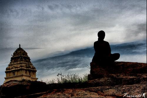 blue sunset sky love silhouette temple evening focus worship rocks meditate peace god bokeh canon1000d