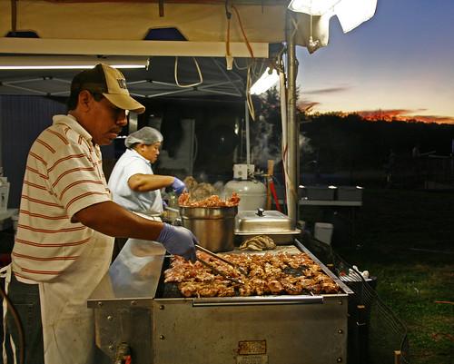 sunset food cooking night evening durham connecticut agriculturalfair vendors durhamfair
