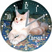Caesar Pet Cat Clock