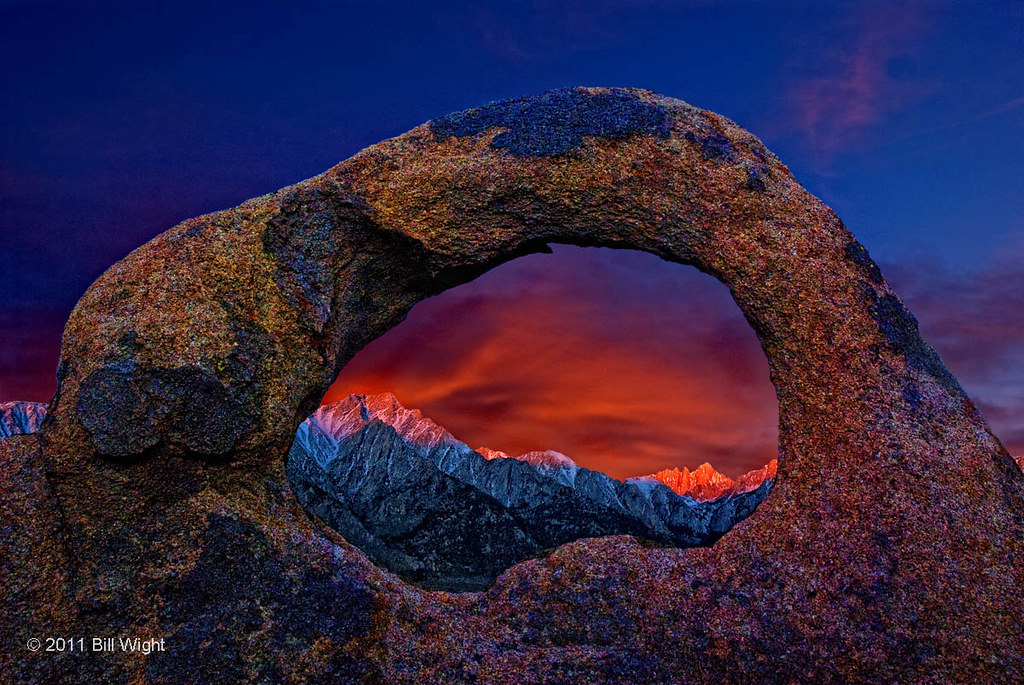 Whitney Portal Arch Sunrise Alabama Hills This Image Is