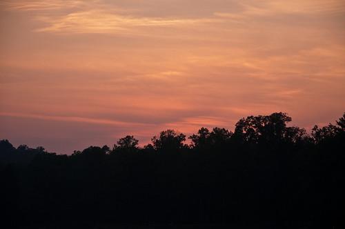 sunset west virginia nikon d90