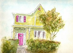 ink_and _wc_brinkman_house | by adine.rotman