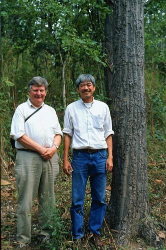 Mon, 10/26/2009 - 14:58 - Prof. Peter Ashton and Dr. Sarayudh Bunyavejchewin in deciduous dipterocarp forest, Huai Kha Khaeng. Credit: CTFS