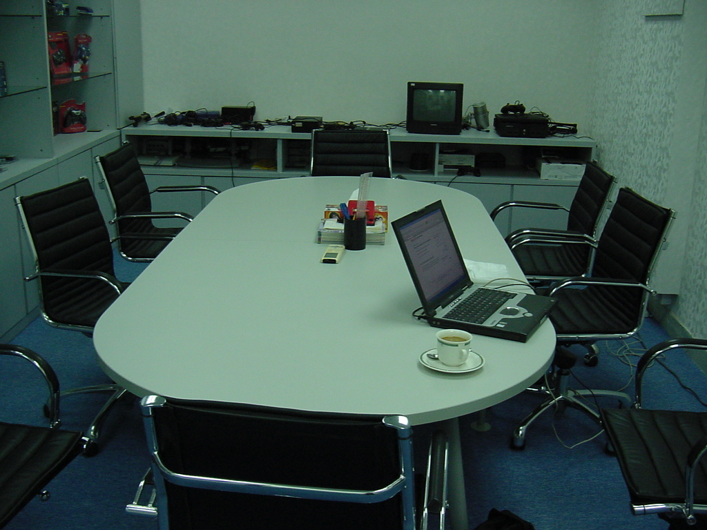 Techcorp office meeting room Hong Kong 2005