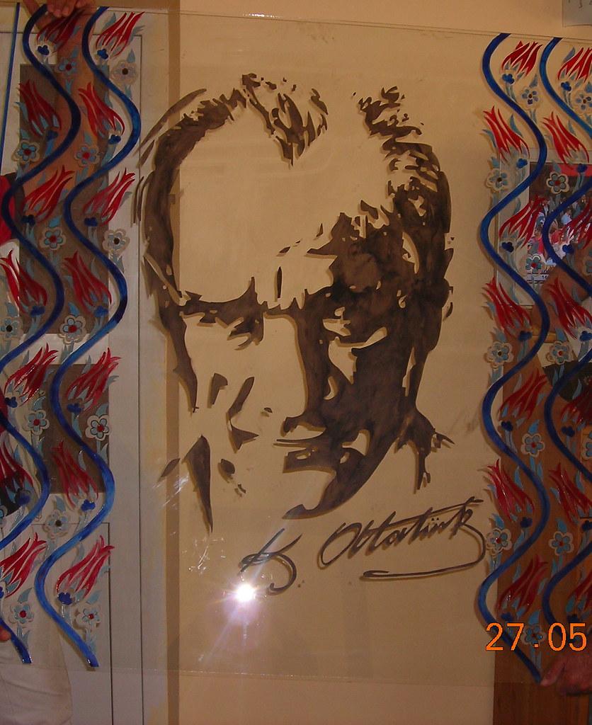 Kumlama Boyama Ataturk Desenli Vitray Www Izmirvitray Com Flickr