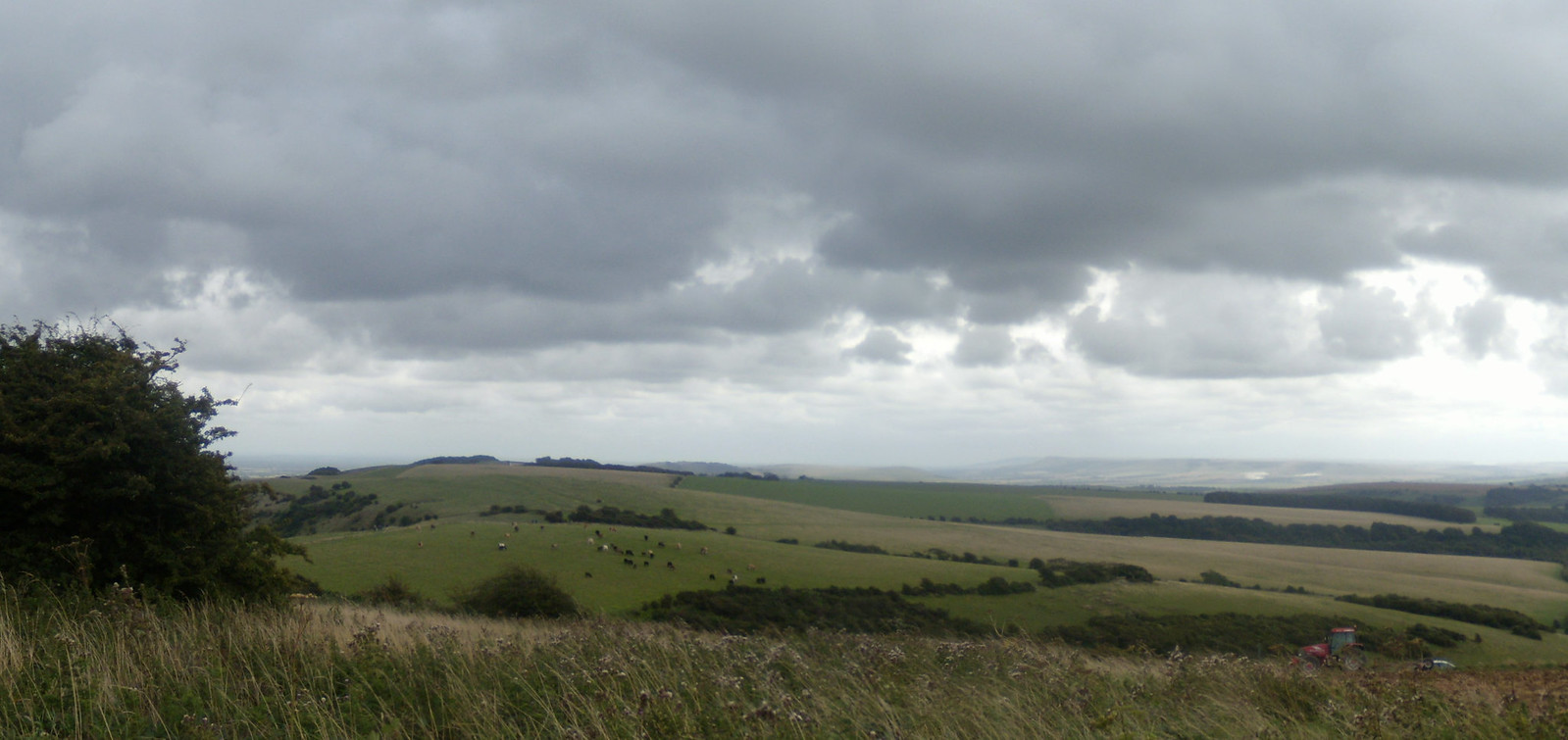 Panorama with tractor Hassocks to Brighton