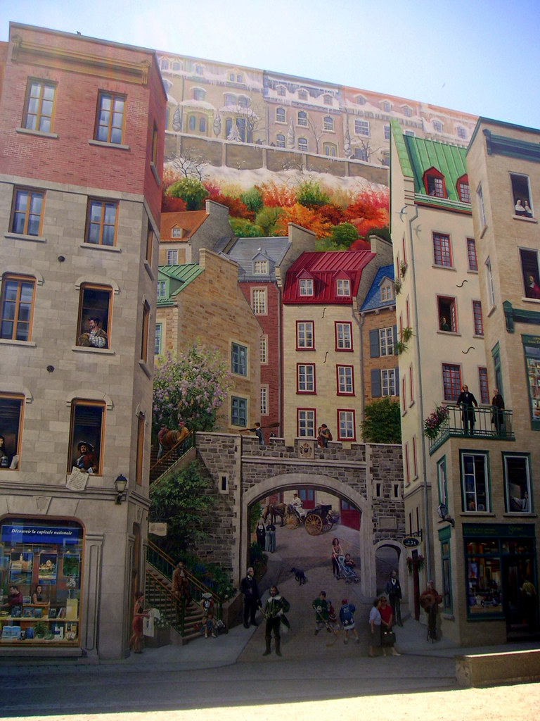 3d Wall Painting Illusion In Quebec City Keewon Flickr