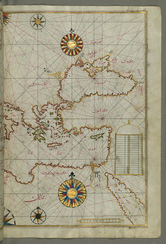 Map of the eastern Mediterranean, Aegean and the Black Sea, from Book on Navigation, Walters Art Museum Ms. W.658, fol.63b | by Walters Art Museum Illuminated Manuscripts