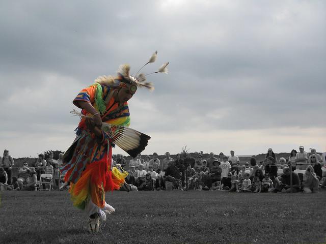 Hammonasset festival - grass dancer - long shot