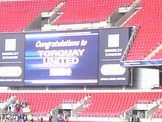 Electronic Scoreboard at the end of the Match