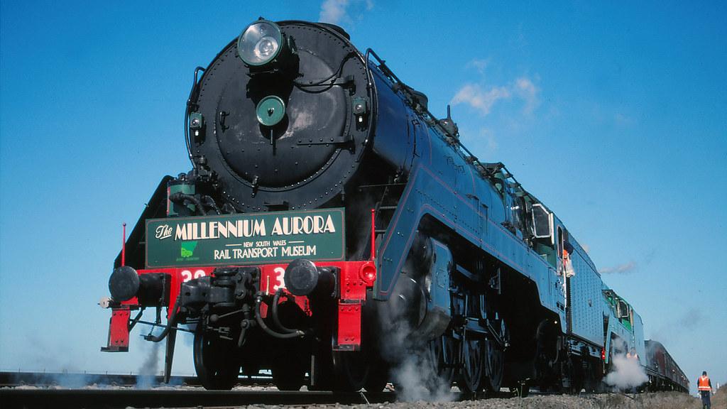 3830 and 3801 at Tatyoon Loop by michaelgreenhill