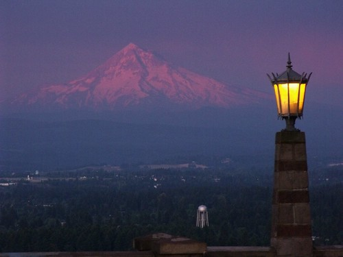 Mt. Hood Sunset from Rocky Butte   by SMcD22