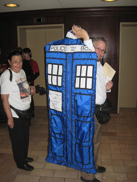 TARDIS garment bag