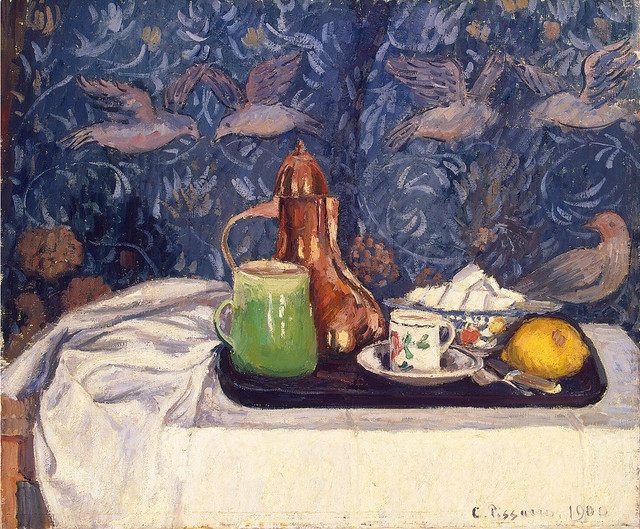 Camille Pissarro - Still life with a coffee pot 1900