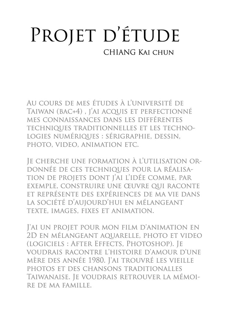 Projet Détude Chiang Kai Chun Flickr