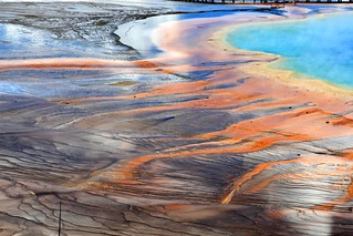 Colorful shore of the Grand Prismatic Spring, Yellowstone National Park | by Alaskan Dude