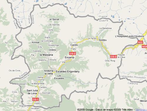 Mapa Andorra Fernando Prieto Flickr