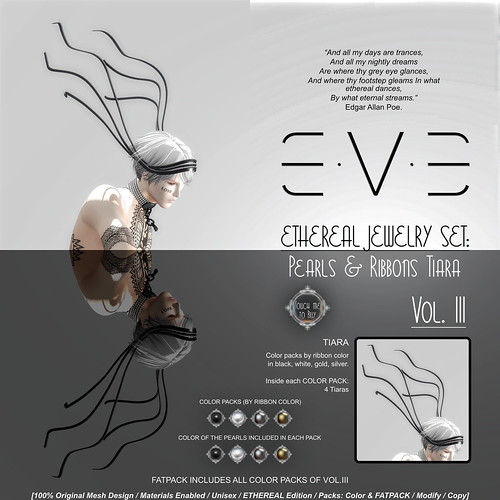 E.V.E ETHEREAL Pearls and Ribbons Tiara {Colors} | by eve.studio (Noke Yuitza)