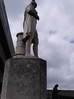 James Watt and Joseph Priestley statues in Chamberlain Square, Birmingam