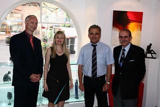 C.et P.Meyer+C.Centlivre Maire+G.Daesslé Conseiller Général | by galerierempart