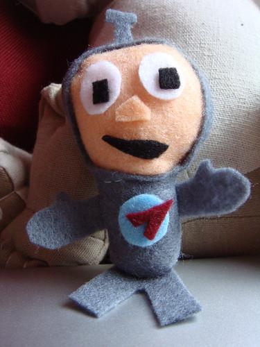 Felt Spaceman   by lilspikey