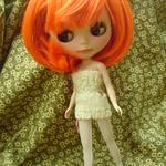 A-0001-1 娃娃頭   柿色