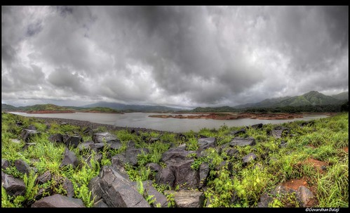 clouds landscape view dam kerala hdr wayanad sagar banasura