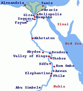 Ancient Egypt Map   This is a map of Nile leading from part ...
