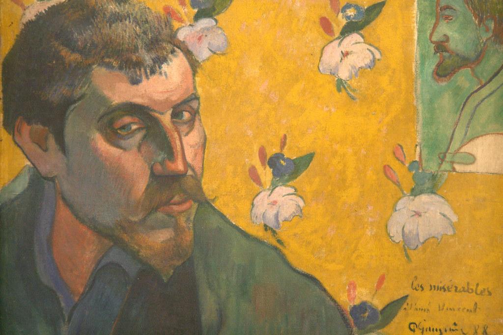 Zelfportret met portret van Bernard, 'Les Misérables'. Vincent van Gogh (1888)