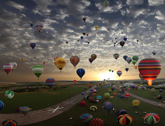 The largest hot-air balloon gathering in the world, Chambley, France. So far today, more then 400.000 views and 7.500 Faves!