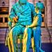 Sheldon Statue at Golden Hour by Samantha Decker