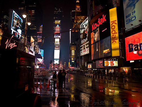 Times Square in the rain | by ChrisGampat