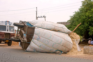 DSC11199 - Overturned farm trailer (India) | by loupiote (Old Skool) pro