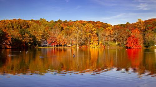 usa lake newyork fall longisland foliage 2009 nys laurelhollow 5d2
