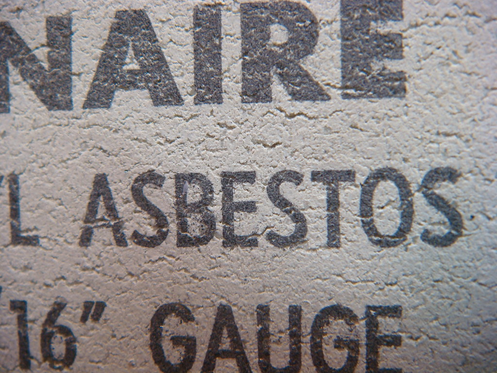Close-up Congoleum-Nairn Asbestos Tile Reverse-Side Textur