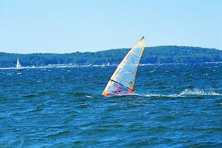 Planche A Voile Lac De Biscarosse Gites De France Sud Atlantique Flickr