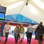Walking through the Entrance Tent | The Entrnace Tent at Edinburgh International Book Festival