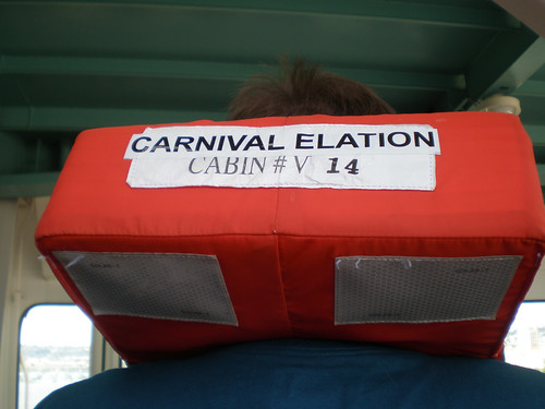Carnival Elation Muster Drill - Cabin-specific Lifejackets | by Miss Shari